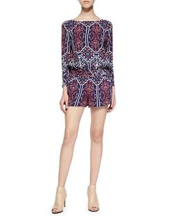 Long-Sleeve Jumpsuit W/ Flora Vista Print by Ella Moss in New Girl