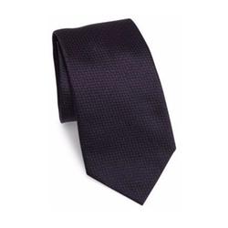 Textured Chevron Silk Tie by Armani Collezioni in Suits