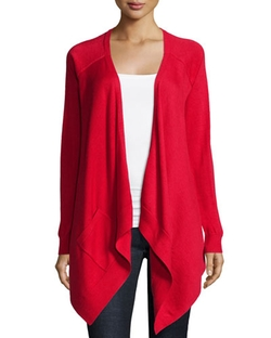 Long-Sleeve Drape-Front Cardigan by Michael Kors Collection in American Horror Story