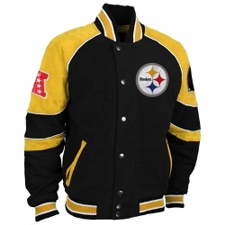Pittsburgh Steelers Suede Jacket by Fanatics in Dope