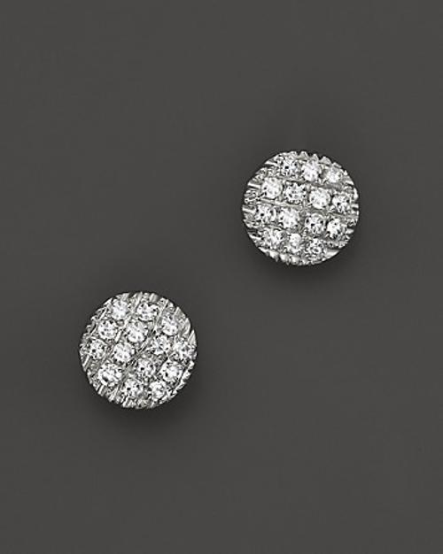 Diamond Lauren Joy Mini Earrings in 14K White Gold by Dana Rebecca Designs in New Year's Eve