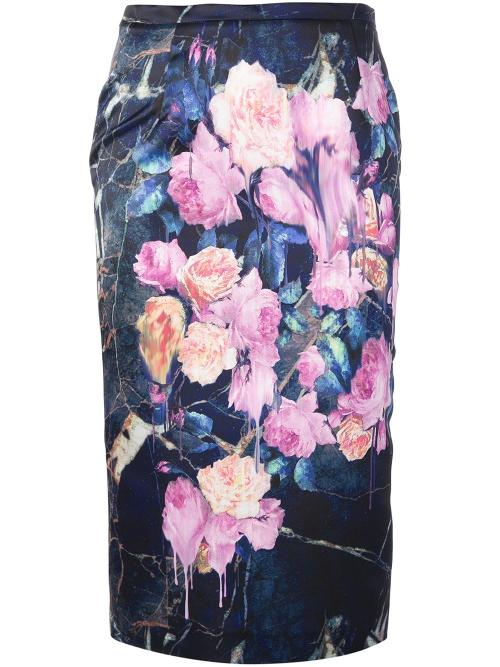 Floral Print Pencil Skirt by Msgm in The Other Woman