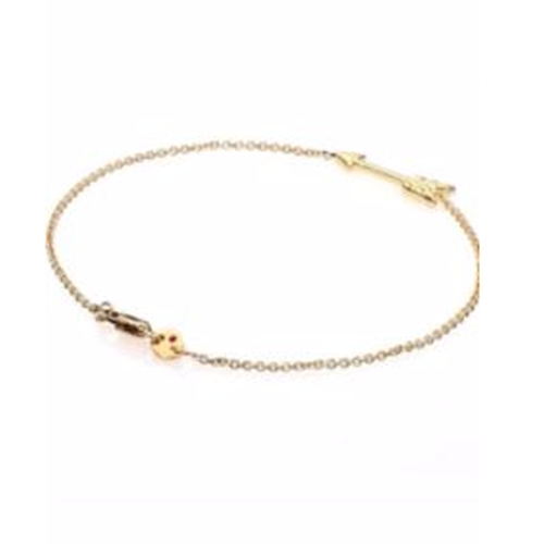 Tiny Treasures 18K Yellow Gold Arrow Bracelet by Roberto Coin in Sisters