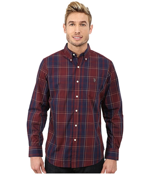 Cotton Poplin Plaid Shirt by U.S. Polo Assn. in MacGyver - Season 1 Preview