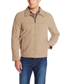 Men's Micro-Twill Classic Zip-Front Jacket by Dockers in Supernatural