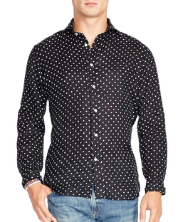 Polka Dot Button Down Shirt by Polo Ralph Lauren in Empire