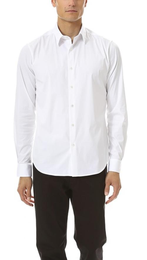 Slyvain Solid Dress Shirt by Theory in Ted
