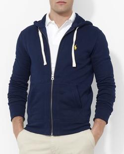 Full Zip Hooded Fleece Hoodie by Polo Ralph Lauren in Suits