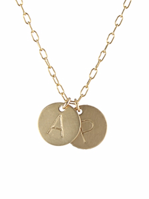 Large Letter Initial Necklace by Peggy Li in Pretty Little Liars - Season 7 Episode 5