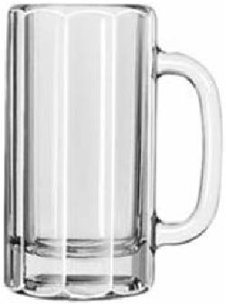 Glass Beer Mug Clear by Libbey Paneled in Blended