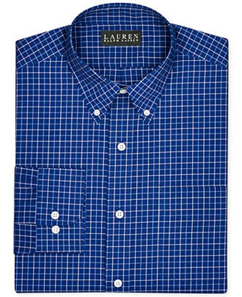 Non-Iron Slim-Fit Poplin Check Dress Shirt by Lauren Ralph Lauren in The Judge