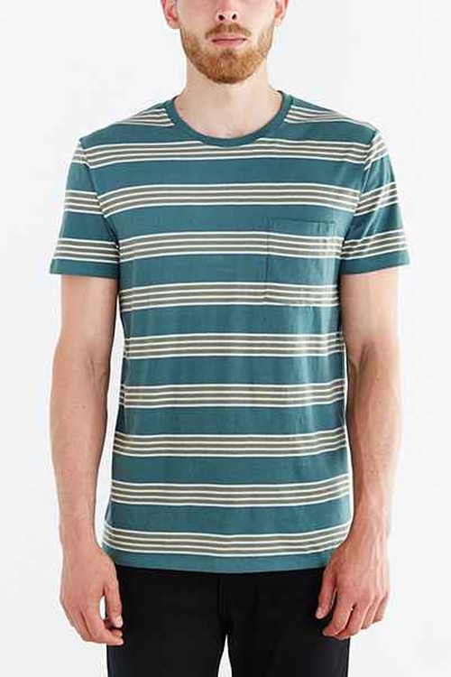 Rowen Stripe Standard-Fit T-Shirt by BDG in Quantico - Season 1 Episode 4