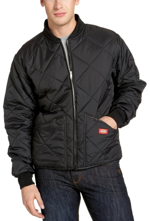 Men's Water Resistant Diamond Quilted Nylon Jacket by Dickies in Walk of Shame