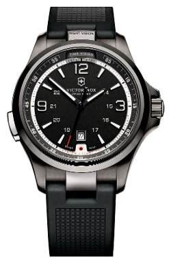 'Night Vision' Rubber Strap Watch by Victorinox Swiss Army in Get Hard