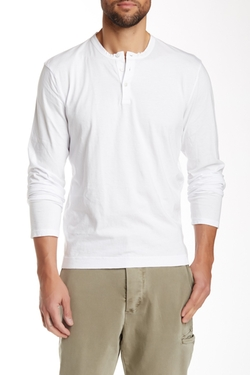 Long Sleeve Henley Tee by James Perse in New Girl
