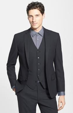 Stretch Wool Blend Blazer by John Varvatos Star USA in Laggies