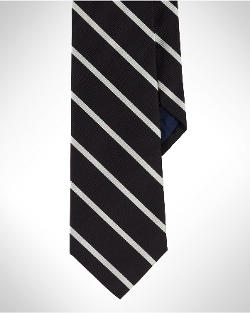 Striped Silk Repp Tie by Ralph Lauren in Southpaw