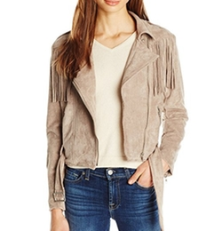 Suede Fringe Biker Jacket by Moon River in Shadowhunters