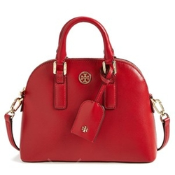 Mini Robinson Saffiano Leather Dome Satchel Bag by Tory Burch in New Girl