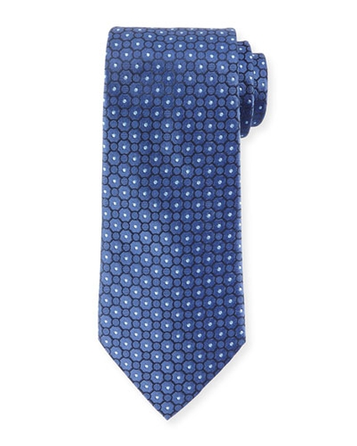 Small Medallion-Print Silk Tie by Armani Collezioni in Suits - Season 5 Episode 1