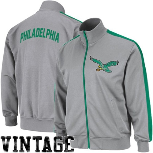 Philadelphia Eagles Goal Post Full Zip Track Jacket by Mitchell & Ness in Silver Linings Playbook
