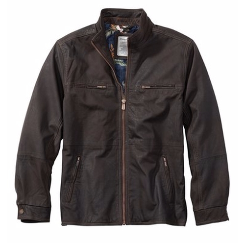 'Sunrise Rider' Island Modern Fit Leather Jacket by Tommy Bahama in Supernatural - Series Looks