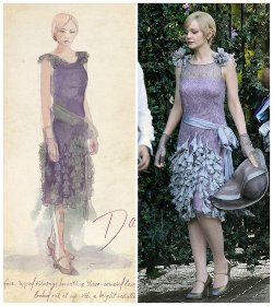Custom Made Lavender Lace Dress (Daisy Buchanan) by Catherine Martin (Costume Designer) in The Great Gatsby