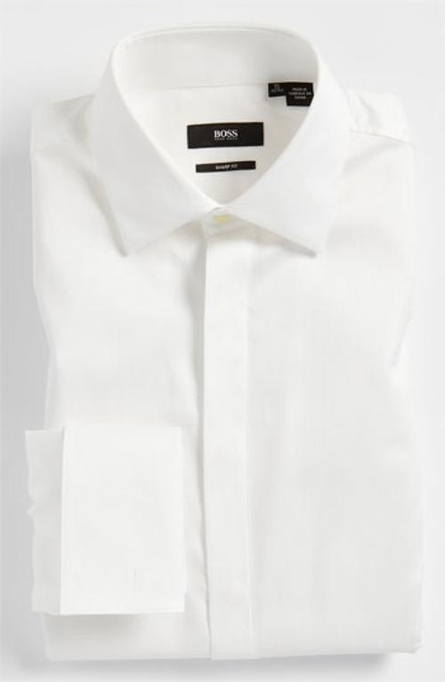 'Marlyn' Sharp Fit Tuxedo Shirt by HUGO BOSS in Transformers: Age of Extinction