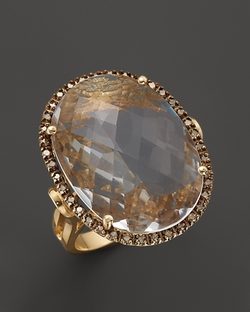 Oval Crystal Quartz & Champagne Diamond Ring by Bloomingdale's in Sex and the City