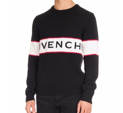 Logo-Stripe Wool Sweater by Givenchy in Master of None