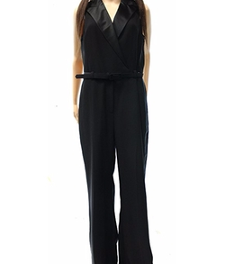 Checklie Satin Trim Tuxedo Jumpsuit by Lauren by Ralph Lauren in Pitch Perfect 3