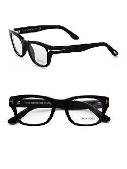 Thick Square Eyeglasses/Black by Tom Ford Eyewear in Vampire Academy