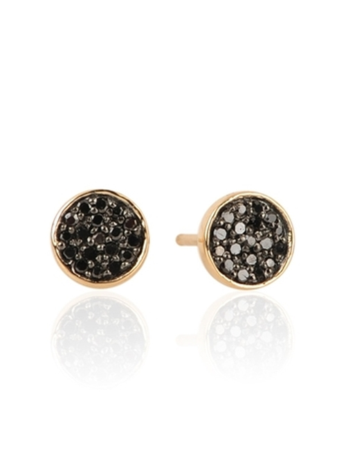 Pave Disc Post Earrings by Admina Reyter in Mr. & Mrs. Smith