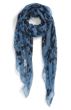 Animal Print Silk Georgette Scarf by Burberry in Burn After Reading