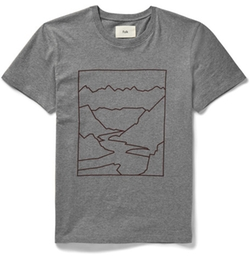 Slim-Fit Mountain-Print Cotton-Jersey T-Shirt by Folk in Billions