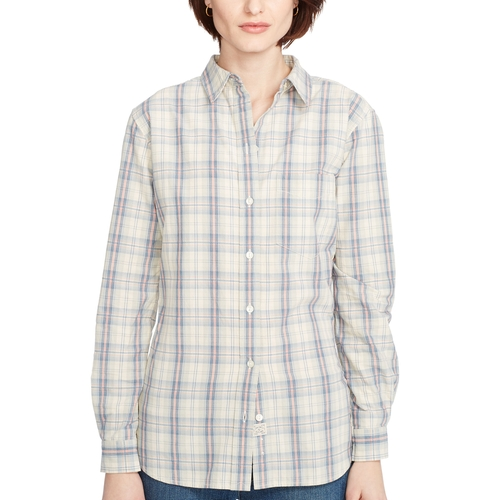 Embroidered Plaid Cotton Shirt by Ralph Lauren in Secret in Their Eyes