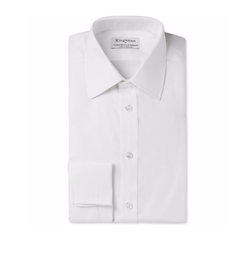 White Cotton-Twill Shirt by Kingsman + Turnbull & Asser in Kingsman: The Secret Service