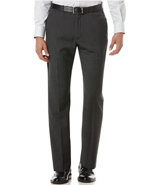Portfolio Travel Luxe Herringbone Straight-Fit Pants by Perry Ellis in Neighbors
