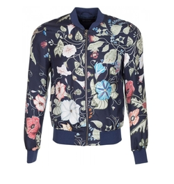 Men's Flora Print Silk Twill Bomber Jacket by Gucci in Keeping Up With The Kardashians