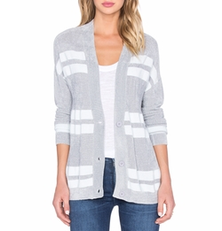 Calvin Stripe Cardigan by John & Jenn By Line in Speechless