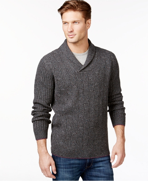Kingside Cable Knit Sweater by Tommy Bahama in Fifty Shades of Grey