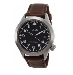 Men's Aeroflite Am4512 Black Leather Quartz Watch by Fossil in Keeping Up with the Joneses