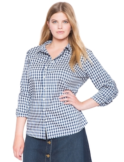 Stretch Perfect Shirt by Eloquii in American Housewife