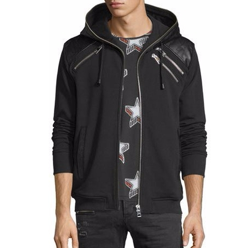 Leather-Trim Zip Hoodie by Just Cavalli in Power - Season 3 Preview