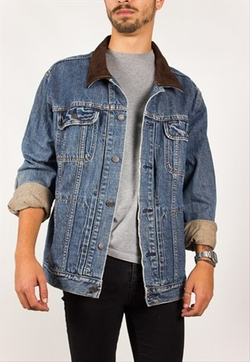 Suede Collar Denim Jacket by Levi's in The Blacklist