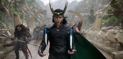 Custom Made Loki Costume by Mayes C. Rubeo (Costume Designer) in Thor: Ragnarok