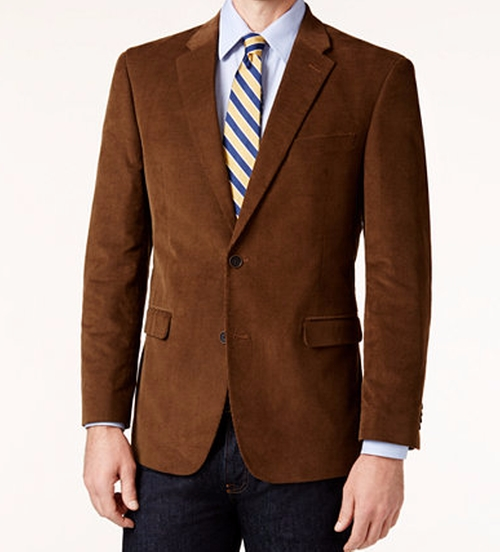 Corduroy Elbow Patch Sport Coat by Tommy Hilfiger in Free Fire