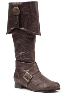 Heel Knee High Boots by Ellie Shoes in Pan