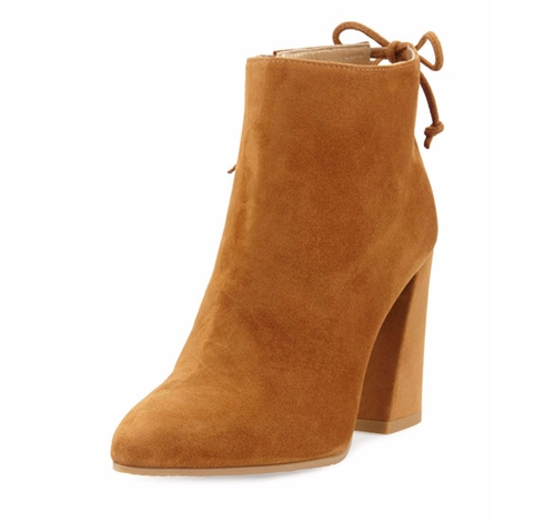 Grandiose Suede Pointed-Toe Booties by Stuart Weitzman in Keeping Up With The Kardashians - Season 12 Episode 3