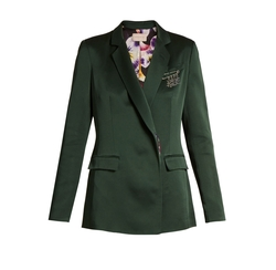 Safety Pin-embellished Cady Blazer by Christopher Kane in Suits